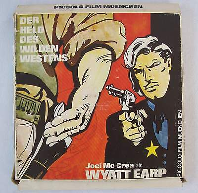 Super 8 Tonfilm Der Held d. wilden Westens Piccolo Film Joel Mc Crea Wyatt Earp