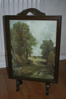 Art Deco Fire Screen With Constable Print