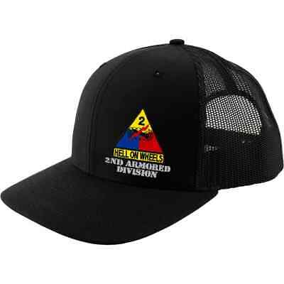 743b7cf6f BLACK 1ST FIRST Armored Division Army Hat Ball Cap Old Ironsides ...