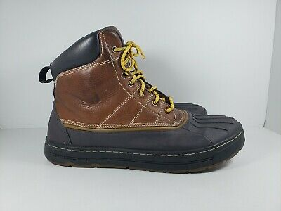 3b24aa0e861 NIKE ACG WOODSIDE Leather Rubber Duck Boots 386469-200 Brown Rare Men's Sz  11