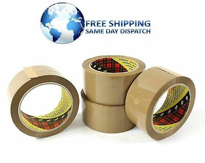 36 Rolls 3M 371 Brown Buff Scotch Packing Parcel Mailing Sealing Tape 48mm x 66m