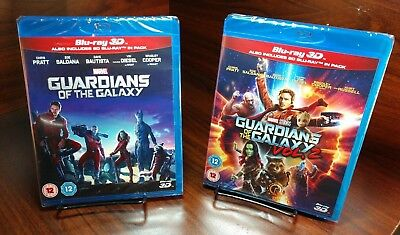 Marvel Guardians of the Galaxy Vol.1 & 2(3D+Bluray)REGION FREE-NEW-Free Shipping