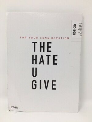 """""""The Hate U Give"""" (For Your Consideration DVD Screener)"""