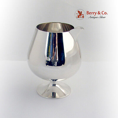 Martini Pitcher Sterling Silver Currier and Roby 1940