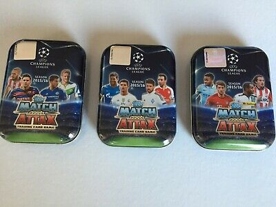 Topps Match Attax 2015/16 Champions League Collectable Empty 3 tin artwork Cr7