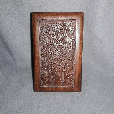 """Carved Hard Wood Urn for small Pets.  5""""×3""""×2"""". Very good Craftsmanship"""