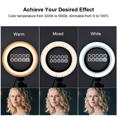 New Studio Live Led Ring Light For Phone Selfie Light Beauty Photograph+Triopd
