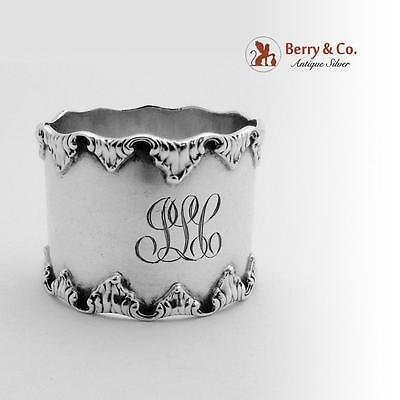 Scroll Rimmed Napkin Ring Sterling Silver Towle 1890