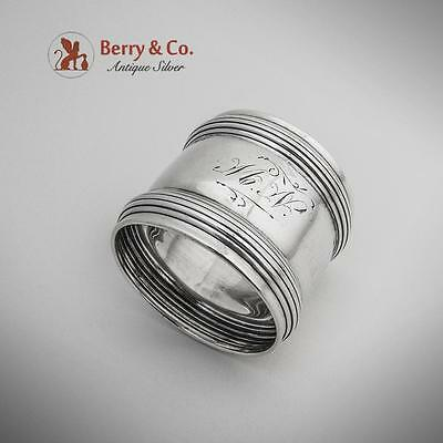 Banded Napkin Ring Sterling Silver Towle 1900