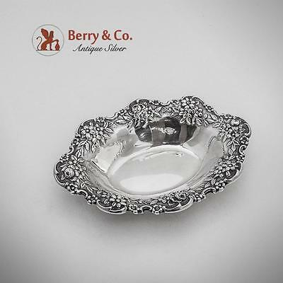 Repousse Nut Dish Sterling Silver S Kirk Son 1940