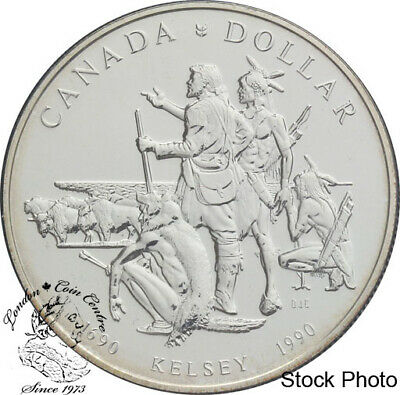 Canada 1990 $1 Henry Kelsey Tricentennial BU Silver Dollar - in Capsule Only