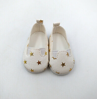 Fit For 14.5'' American Girl Doll Clothes Slip-On Star Printed Shoes PU Leather