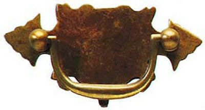 """4"""" Antique Style Solid Brass Plate Drawer Handle 1500A/B"""
