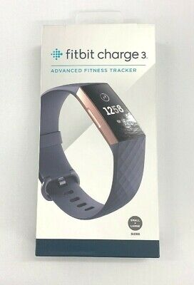 Fitbit Charge 3 Activity Tracker - Blue Gray/ Rose Gold Aluminum