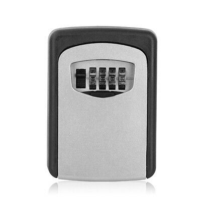 Key Safe Box Wall Mounted Key Cupboard with 4 Digit Combination Lock