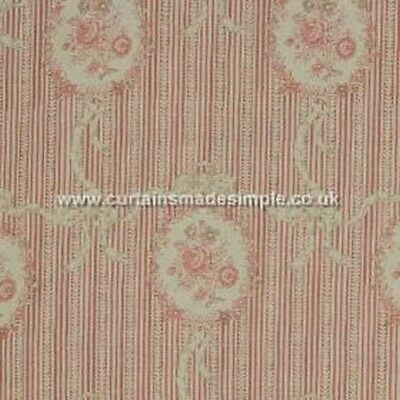 Kate Forman - Cameo Ribbons - Tuscan Pink - Large Fabric Remnant - 45cm x 128cm