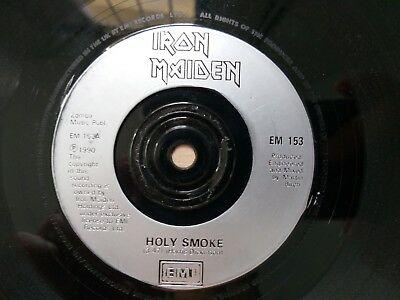 """Iron Maiden Holy Smoke UK Promo 7"""" Vinyl S/Sided- the trooper soundhouse tapes"""