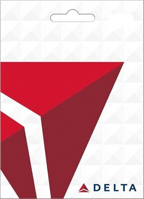 Delta Air Lines Physical Gift Card - Standard 1st Class Mail Delivery - Sealed