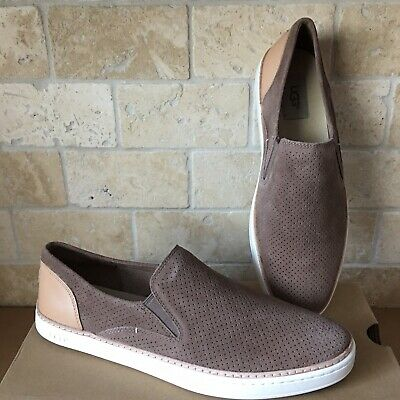 77d297a12a8 UGG WOMEN'S ADLEY Slip On Stardust Silver Perforated Suede Casual ...