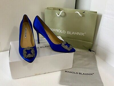 3c2666eeec199 NEW MANOLO BLAHNIK Size 40 Black Sequin Slingback Pumps Heels Shoes ...
