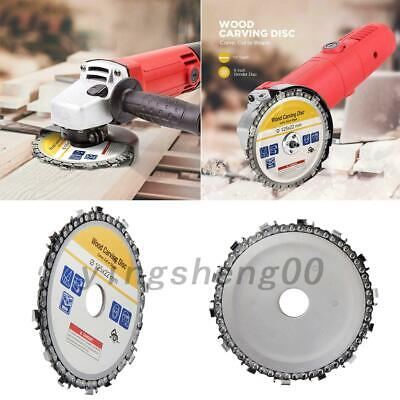 """5"""" Angle Grinder Disc and 14 Tooth Chain Saw Blades For Wood Cutting Chainsaw AU"""