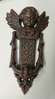 Victorian Trading Co Angel Cherub Cast Iron Door Knocker 10C