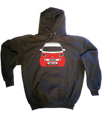 CUSTOM HTees hoody: SMART FORTWO City Coupe Cabrio, Pick car colour & plate