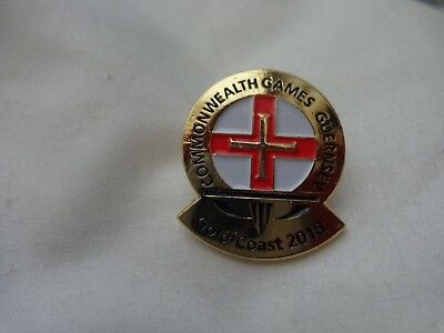 Australia Gold Coast 2018 Commonwealth Games - Guernsey Team Pin Badge