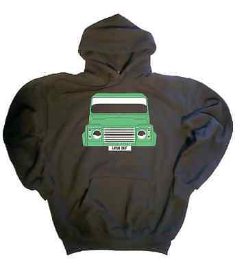 CUSTOM HTees hoody: LAND ROVER DEFENDER, Pick car colour & plate, Sizes S-XXL
