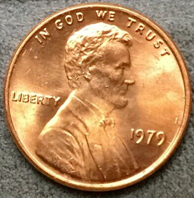 *1979 p* Uncirculated BU Red Lincoln Memorial Cent *Free Ship*