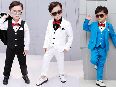 Kids Boys Suit Set Toddler Formal Tuxedo Suits Wedding PageBoy Party Dresses