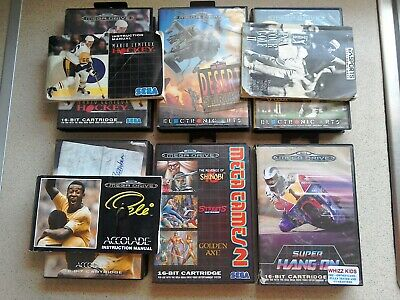 6 x EMPTY BOXES ONLY - For Sega Mega Drive Games (PAL)