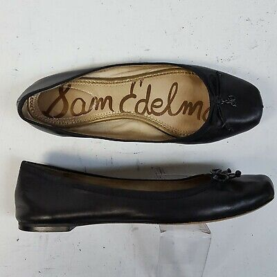 0fc3ad36d Sam Edelman Dominica Black Leather Leather Ballet Flats Shoes Womens Size  9.5