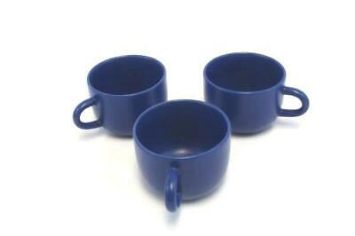 "Lot of 3 Vintage Blue Coffee Mugs Cups 3.5"" Diameter Made in Thailand"
