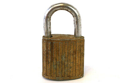 Vintage Brass Universal Co. Hero Padlock With Key From Hong Kong