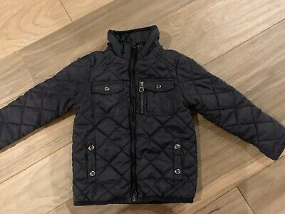 fb38ca04d ZARA Boys Jacket With Pockets And Zipper Jacket Size 4-5 Years Black Color  GUC