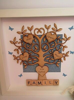 Personalised Family Tree Box Frame Jigsaw Puzzle Love Mothers day Gift Mum