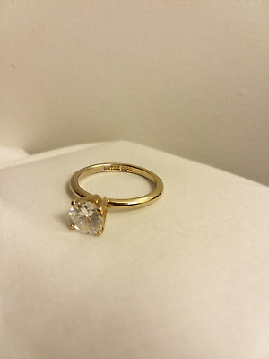 4871f0966990f VINTAGE ESPO 14KT GE Ring Gold Band Ruby Glass Marquise Size 6.75 ...