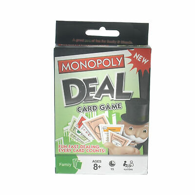 Brand New Monopoly Deal Shuffle Family Card Game Hong Kong Edition