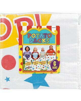 Potato Sack Race Game Pack Of 6 One Size
