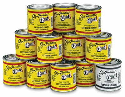 1 Shot Paints - P Pint 473mL - Pinstriping Enamel Paints - One Shot - 1shot