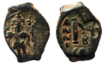 Byzantine Heraclius Follis Constantinople mint SB 810 with countermark