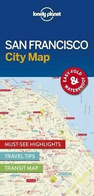 NEW San Francisco City Map By Lonely Planet Folded Sheet Map Free Shipping