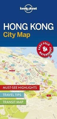 NEW Hong Kong City Map By Lonely Planet Folded Sheet Map Free Shipping