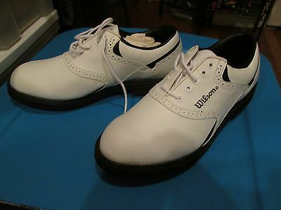 reputable site 53695 fe6a5 Wilson Pro Staff Contour Golf SHOES  GSO60 Synthetic Leather White, Size 7