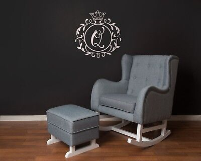 Rocking Breastfeeding Chair Large + Ottoman Grey