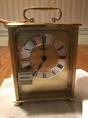 Seiko Brass Mantle Clock  Qhg102Glh