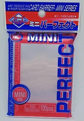 5x KMC Mini Perfect Fit / Size Sleeves - 60x87mm - 100 Count - Yugioh Vanguard
