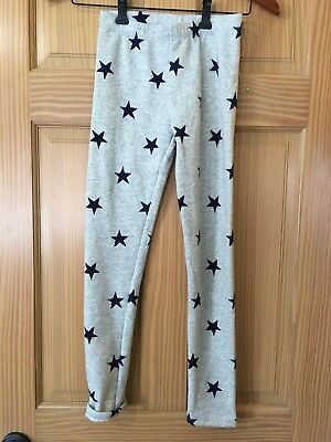 NWT Gymboree Cozy Light Gray Leggings Navy Blue Star Girls Outlet