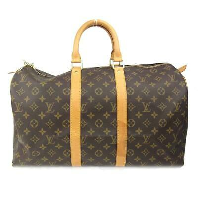 7a1c7a94cb99 Authentic LOUIS VUITTON Keepall 45 Boston bag Monogram Used Vintage M41428